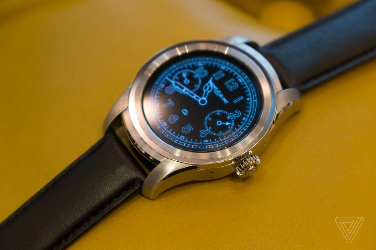 b42c4f3e11583 Montblanc s first smartwatch is a big lump of Android Wear luxury ...