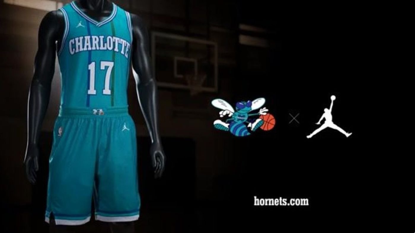 buy popular 705a2 82373 Charlotte Hornets unveil classic uniform - At The Hive