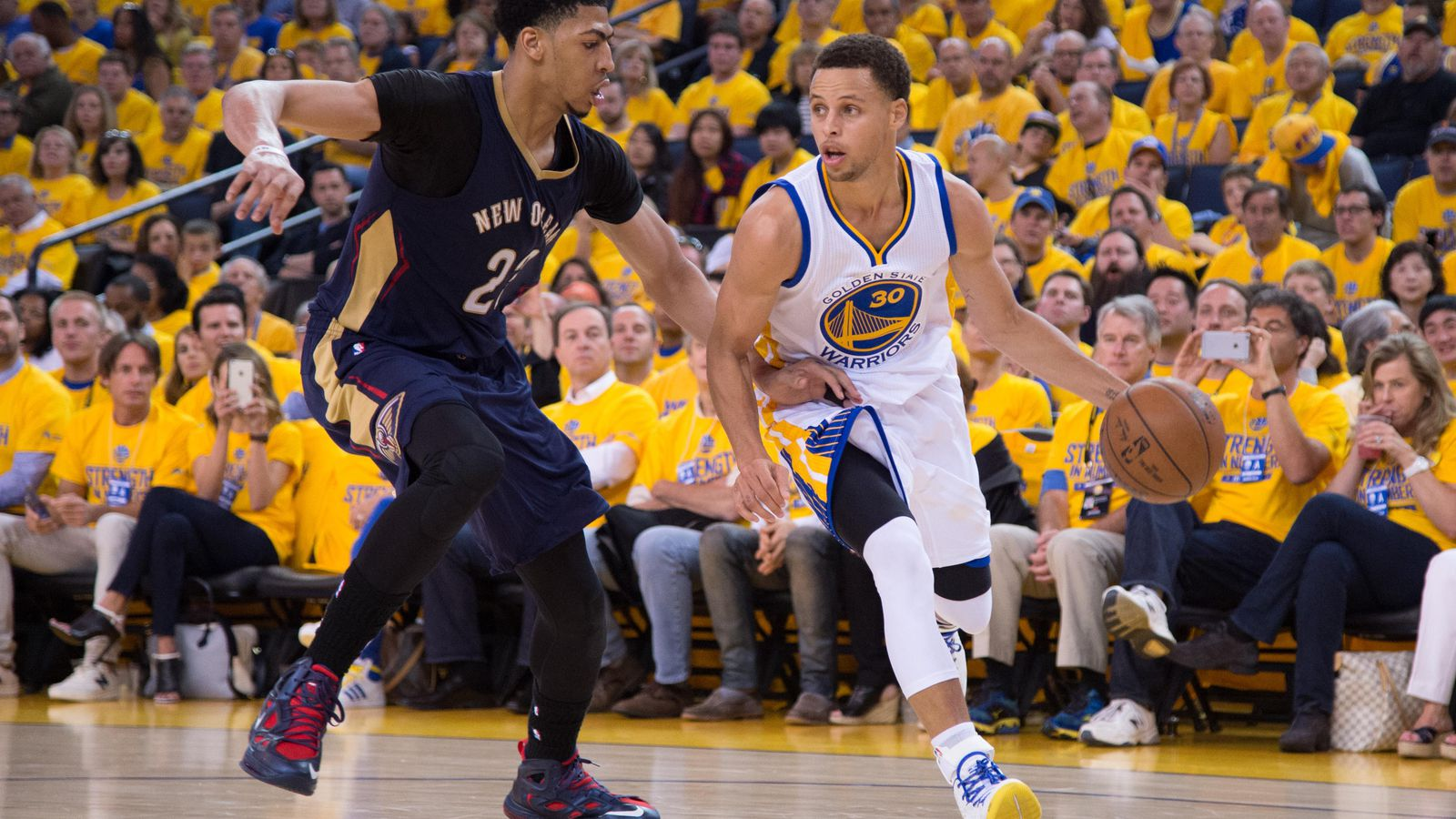 Anthony Davis, Stephen Curry, James Harden on NBA 2K16 ...