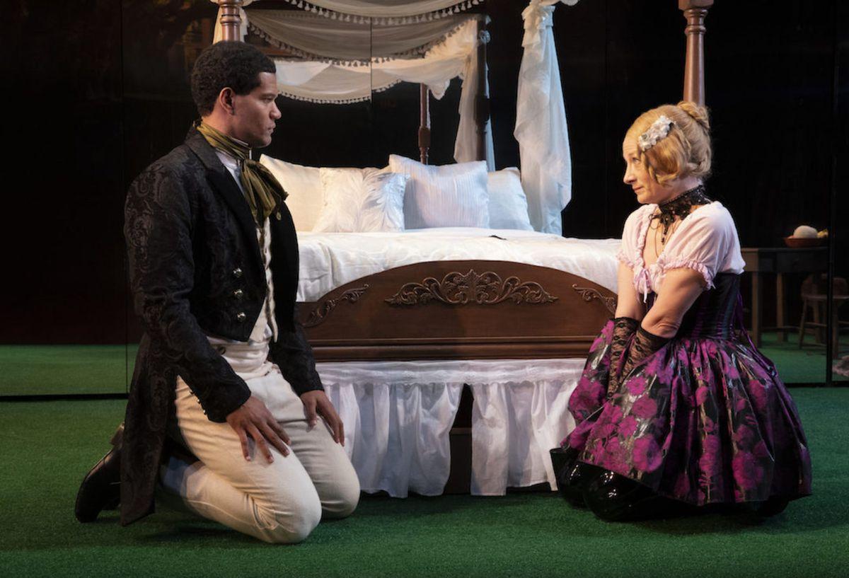 Sullivan Jones (Phillip) and Annie McNamara (Alanna) in Slave Play.