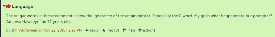iowa comment