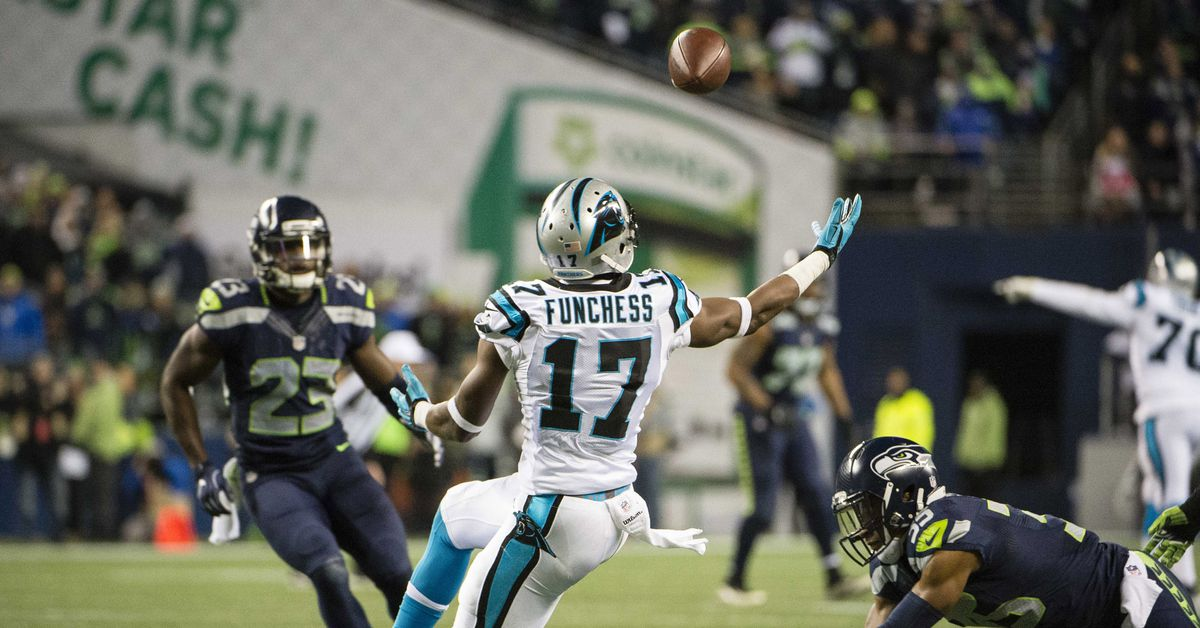 Devin Funchess would offer Russell Wilson a big-bodied threat