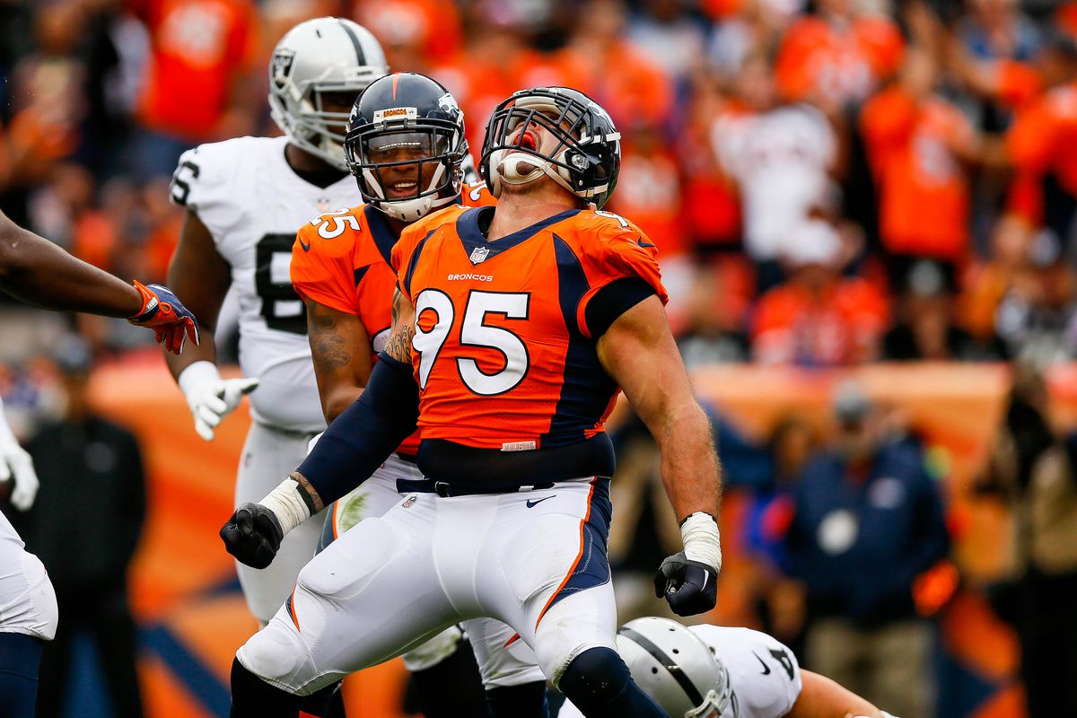 Broncos Patriots injury updates Derek Wolfe dealing with neck