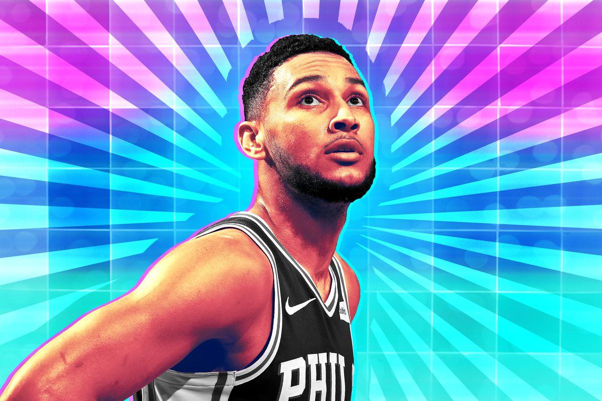 A treated photo of Philadelphia 76ers' Ben Simmons