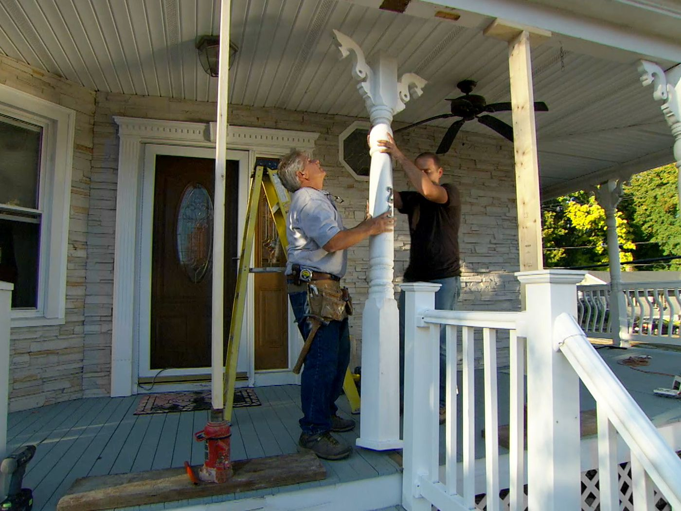 Image of: How To Repair A Rotted Porch Post This Old House