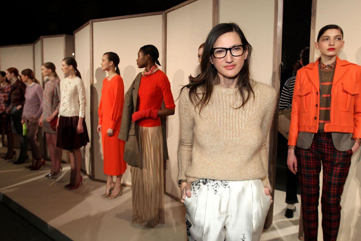 Jenna Lyons and models at New York Fashion Week, via Getty