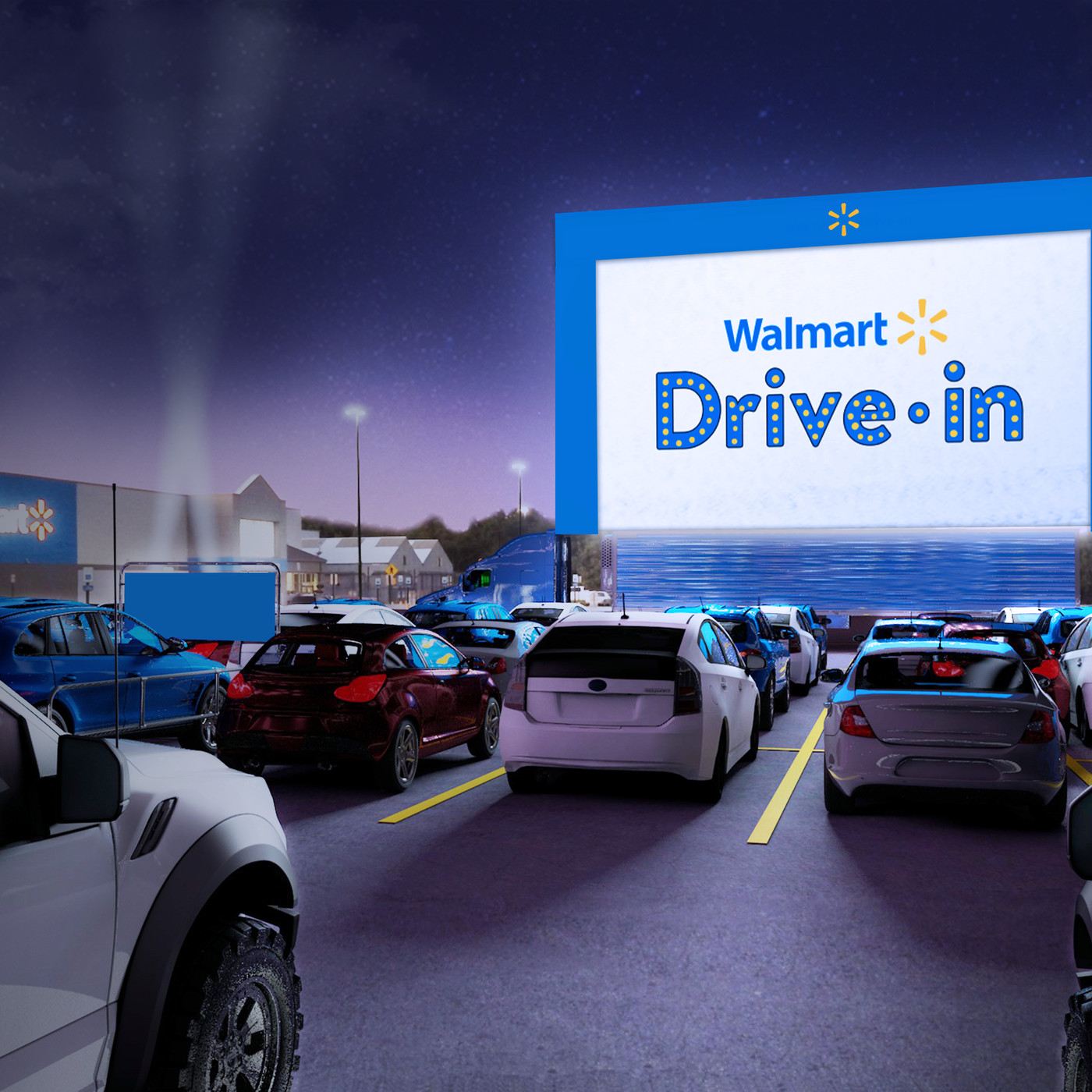 Walmart Is Converting Its Parking Lots Into Drive In Theaters For The Summer The Verge