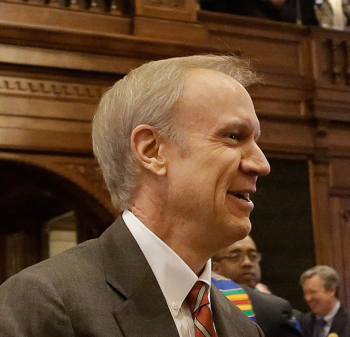 Illinois Gov. Bruce Rauner had declared that he wanted to close Illinois' borders to Syrian refugees.  | Associated Press file photo