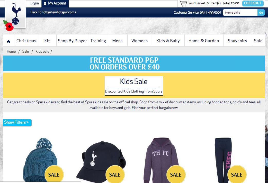 spurs-store-kids-item-sale