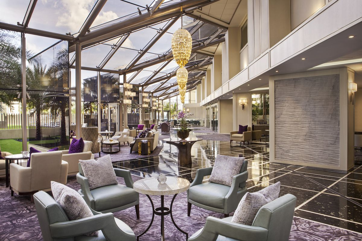 inside st regis bal harbour s enhanced lobby and new. Black Bedroom Furniture Sets. Home Design Ideas