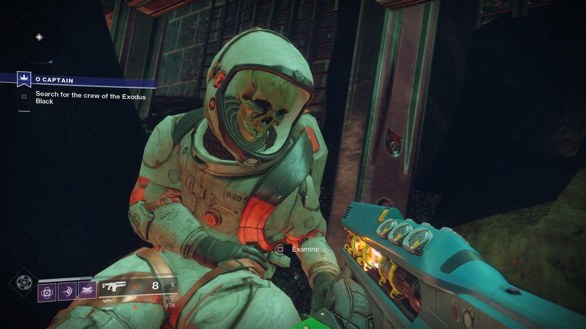Destiny 2 - Exodus Black corpse in 'O Captain' quest