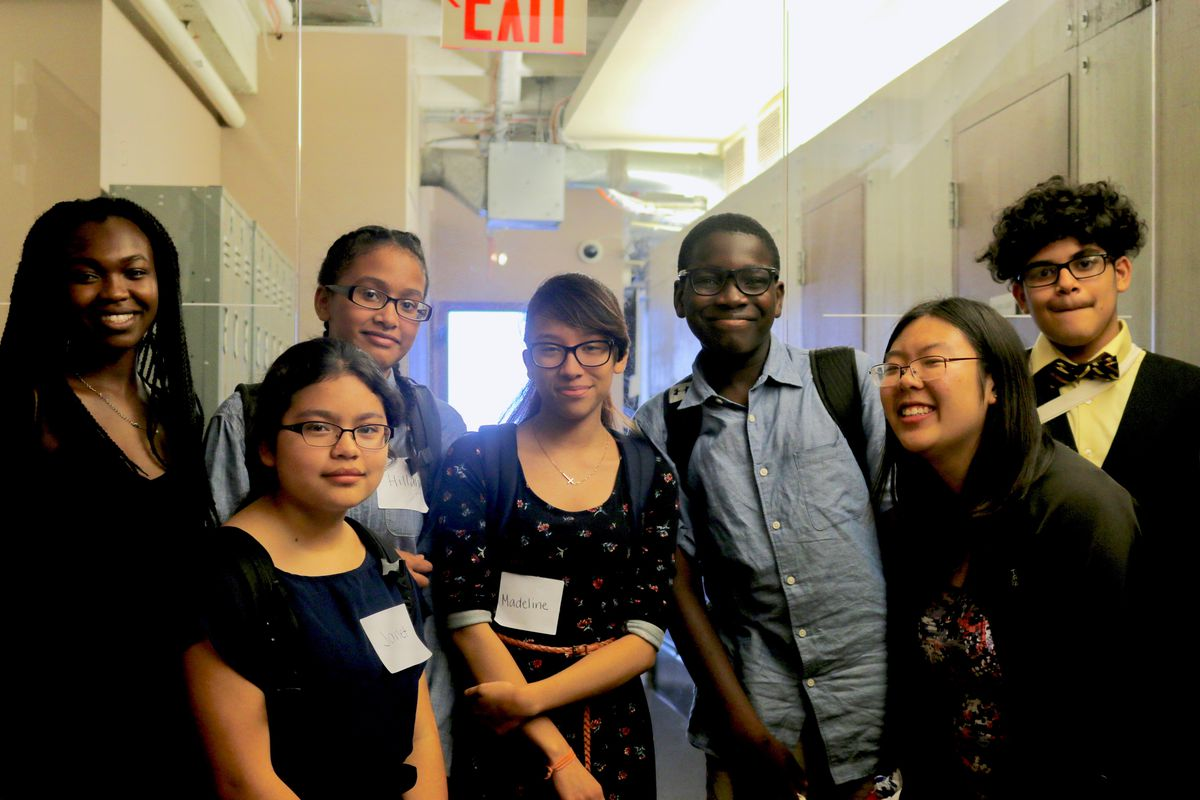 Students from Breakthrough New York visited the Chalkbeat offices.