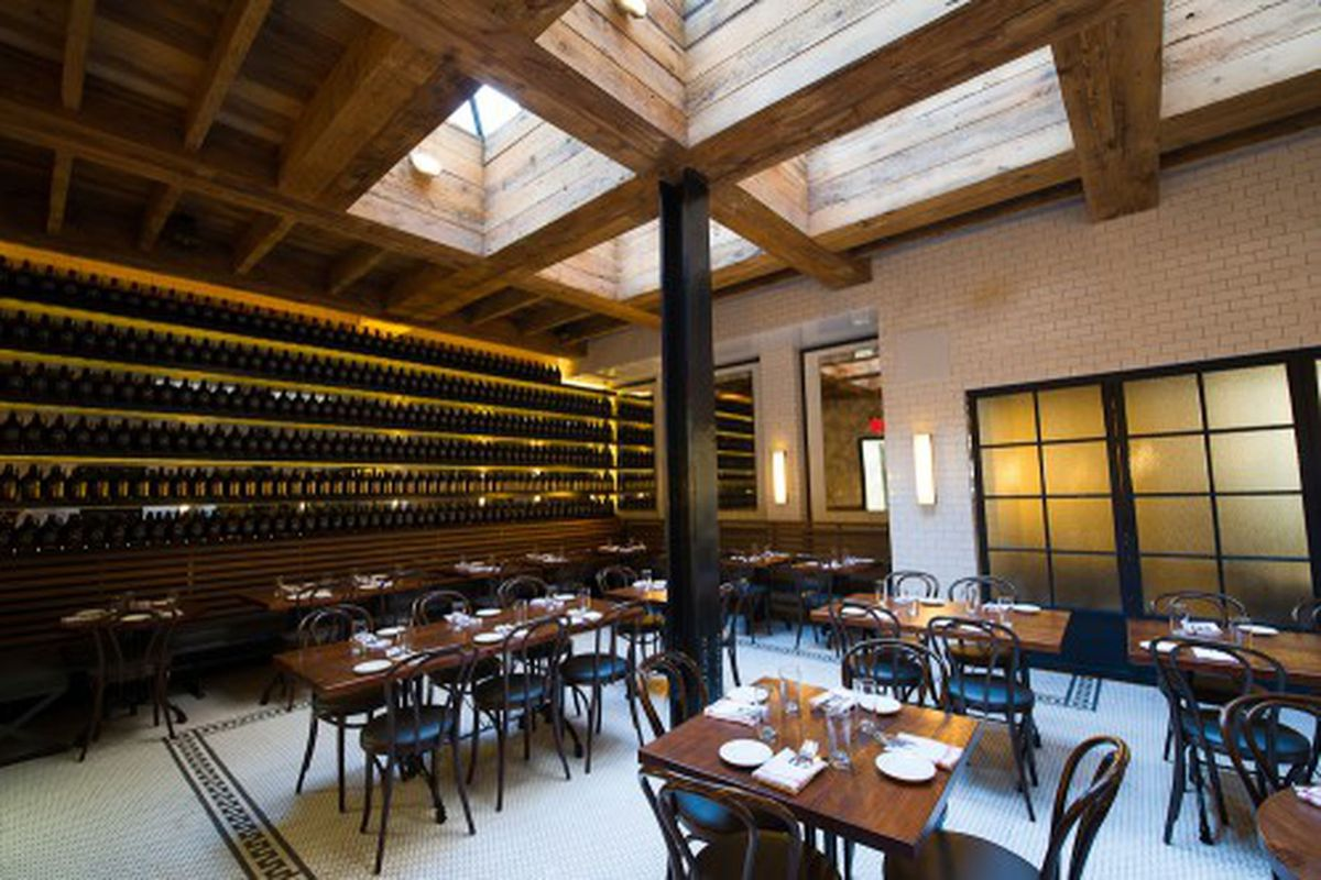The Midtown New York location of the Smith gives Chicagoans an example of what to expect.