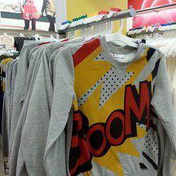 The supply of Boom Sweatshirts is surprisingly plentiful.