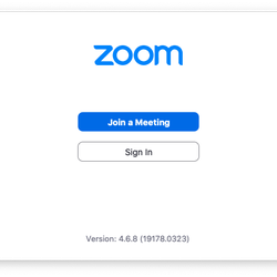 """<em>After you've installed the Zoom app, you'll see buttons to """"Join a Meeting"""" or """"Sign In.""""</em>"""