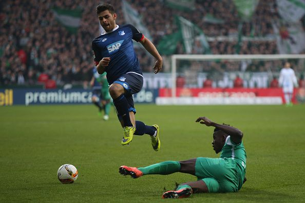 Kevin Volland in action for Hoffenheim
