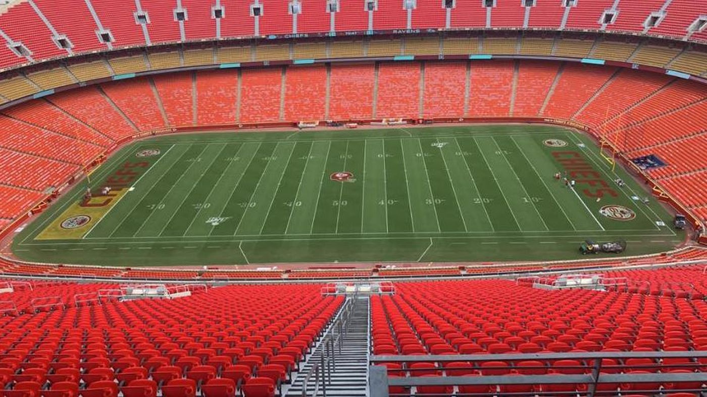 Gold end zones are coming to Arrowhead Stadium on Sunday vs. Ravens
