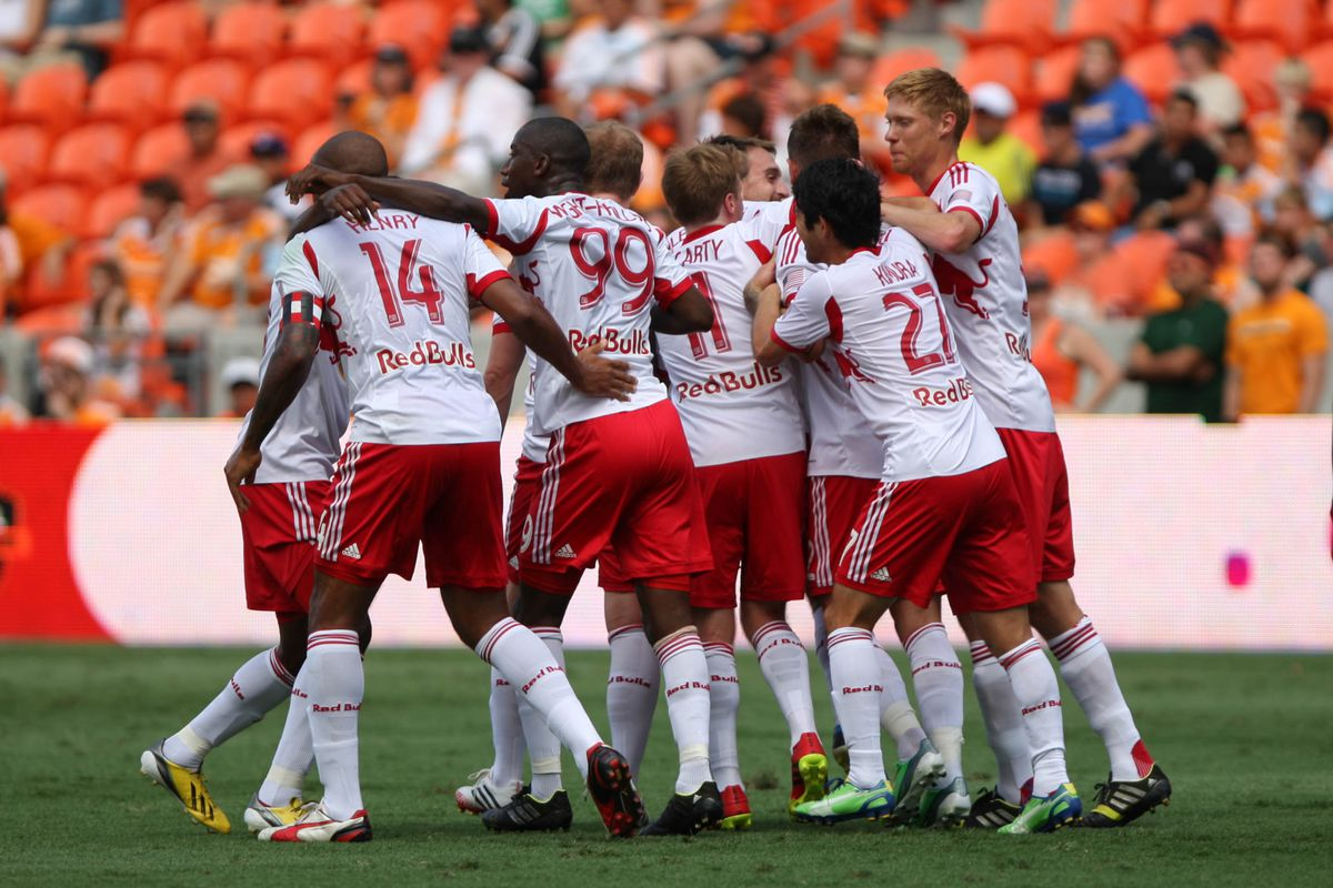 New York celebrate the first of four goals on the weekend - is another blowout on the cards?