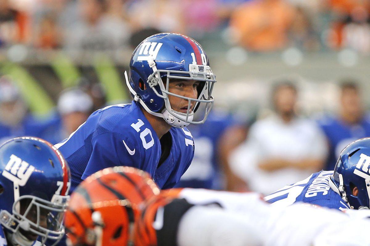 Eli Manning against the Bengals.