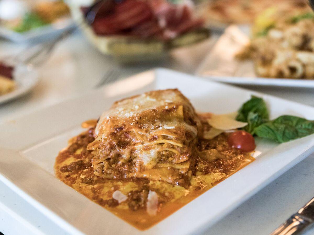 Lasagna at Siena Italian Authentic Trattoria & Deli