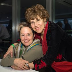 Alice Waters and Joan Nathan at the VIP book signing. (Credit: Ken Cedeno).