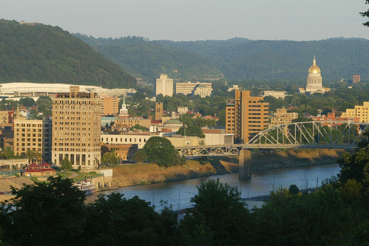 Skyline of West Virginia capital where task force trys to solve sniper deaths.