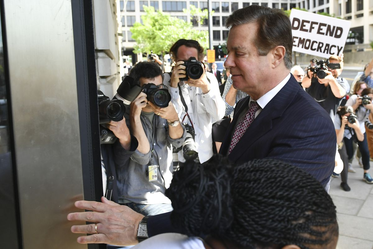 Manafort in June 2018, before he was jailed.
