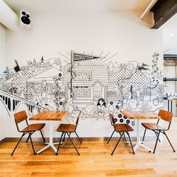 A regionally inspired mural at the new Sweetgreen in Georgetown.