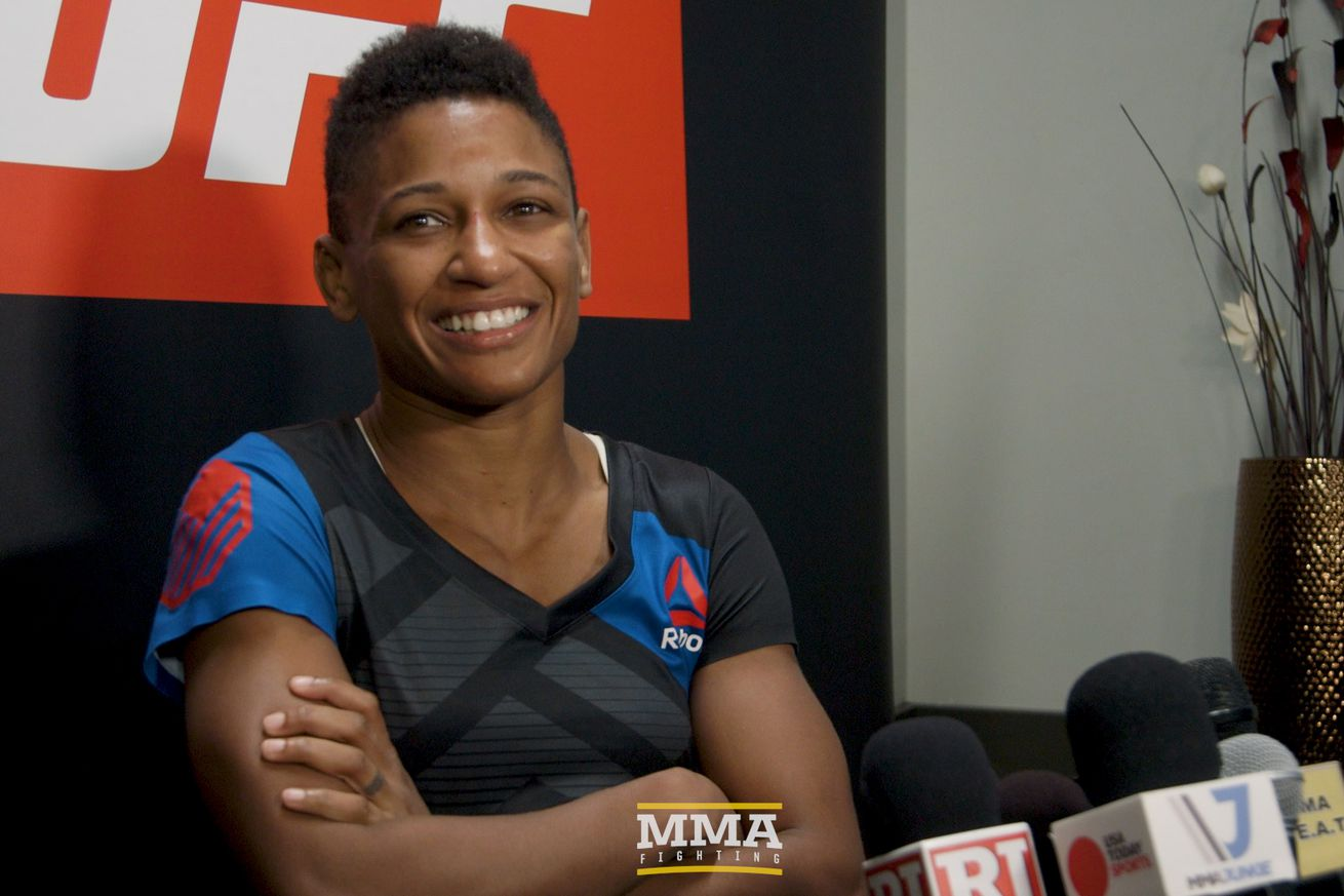 Angela Hill would like to fight Paige VanZant next, but doesnt believe shell get it