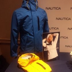 In the event the torrential rains return to LA, Nautica's new waterproof jackets have celebs's backs.