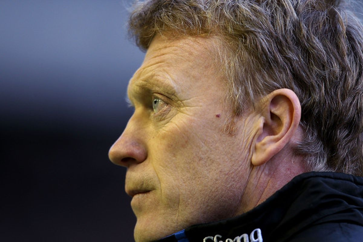 LIVERPOOL ENGLAND - JANUARY 22:  Everton manager David Moyes during the Barclays Premier League match between Everton and West Ham United at Goodison Park on January 22 2011 in Liverpool England.  (Photo by Scott Heavey/Getty Images)
