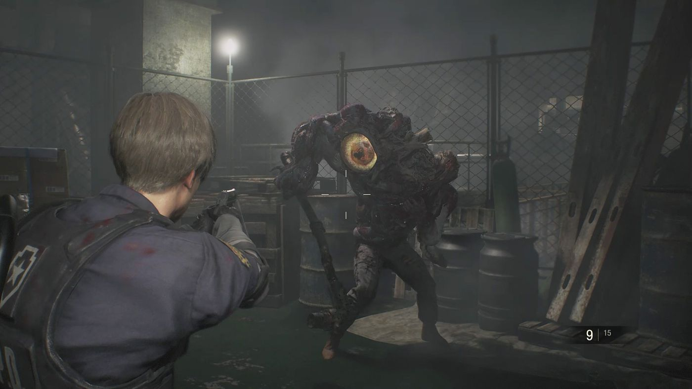 Resident Evil 2 Machinery Room Boss Fight Walkthrough Polygon