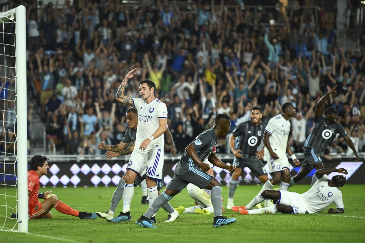 Minnesota United played Orlando City in an MLS soccer game