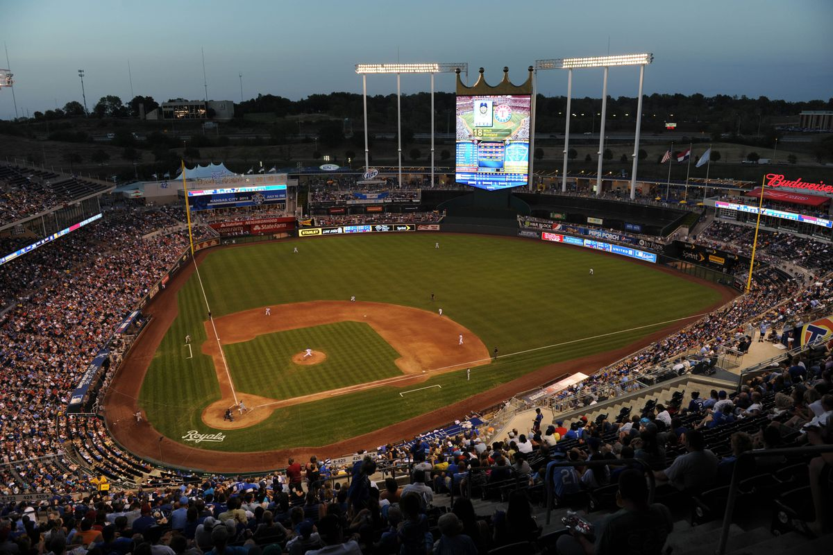One thing the Royals have on the A's: their stadium was properly renovated.  Up there on my list of stadiums to visit.