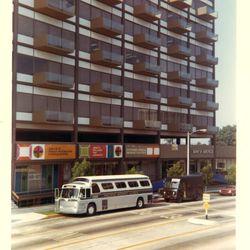 1967 view of the International Design Center at 8899 Beverly Boulevard. <i>[Photo courtesy Ronald S. Kates]</i>