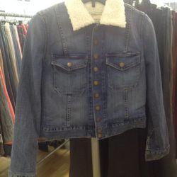 Current/Elliot denim and shearling jacket, $45