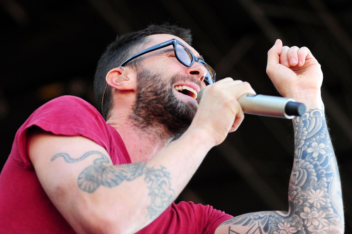 PICTURED: Maroon 5 lead singer Michael Levin