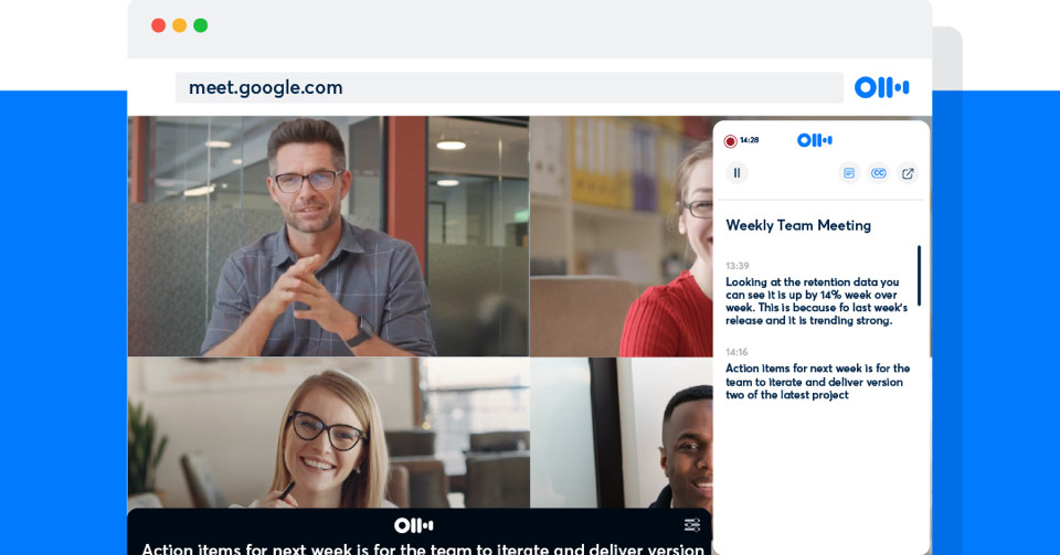 Otter.ai's new Chrome extension can transcribe Google Meet calls in real time