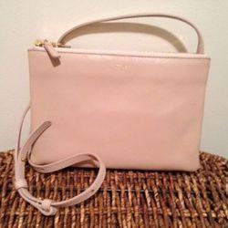 Céline Trio crossbody bag in dusty pink