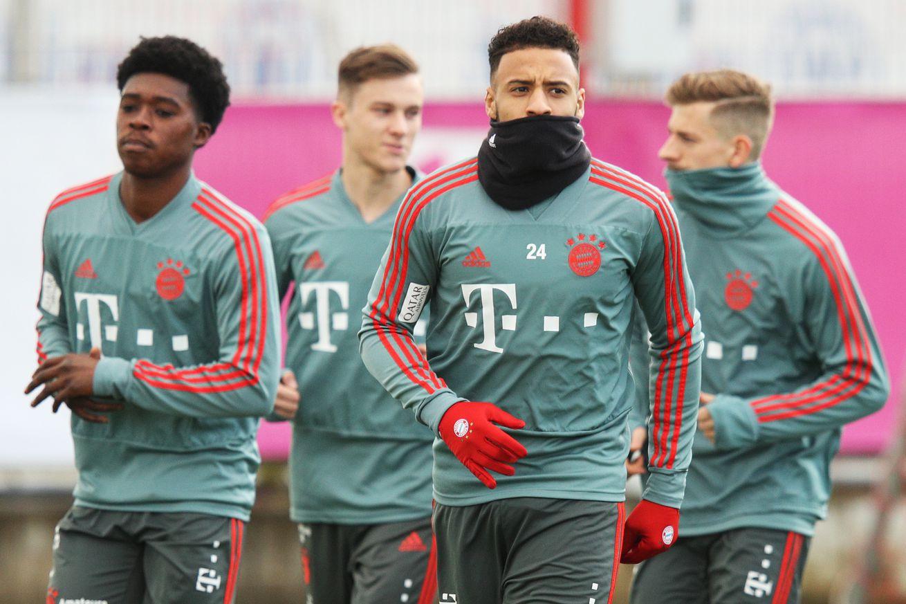 Bayern Munich?s Corentin Tolisso back in team training