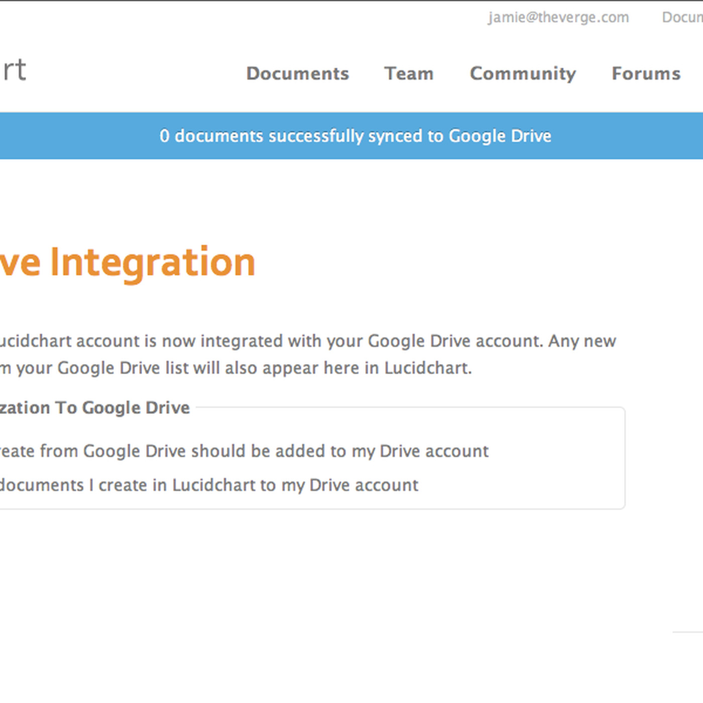 Google Drive integration leaked by Lucidchart - The Verge