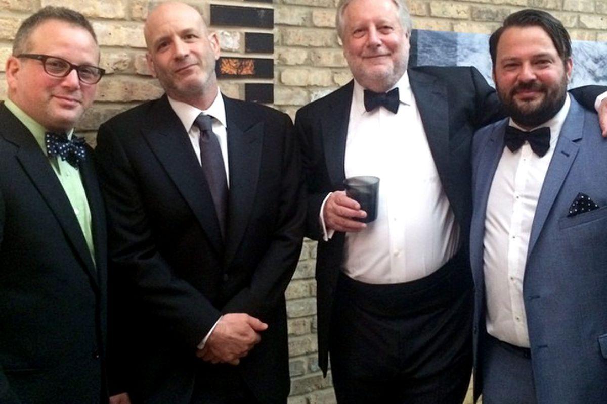 Outstanding Chef nominee Marc Vetri poses with chefs Paul Kahan, Jonathan Waxman, and Stuart Brioza.