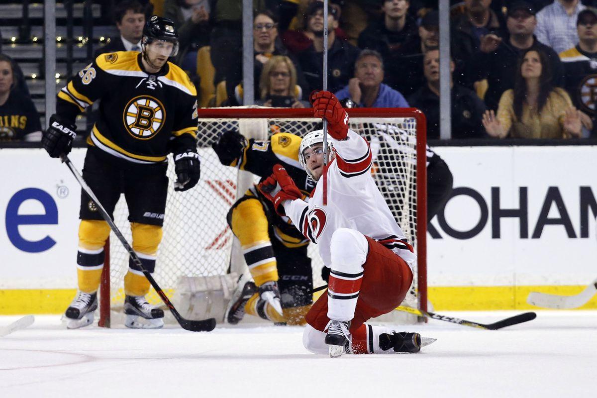 Phil Di Giuseppe celebrates his game-winning goal in Boston