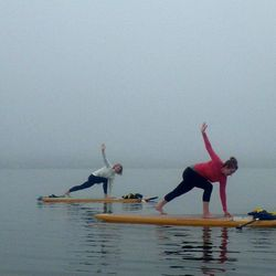 You haven't really lived if you haven't done <strong>yoga on a stand-up paddleboard</strong> in the middle of the Bay—even better during the freezing cold winter months. (Think of it as more incentive to not fall!) Give the wacky workout a try with <a hre
