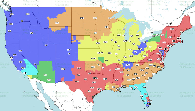 NFL Week 3 Broadcast Map - Turf Show Times