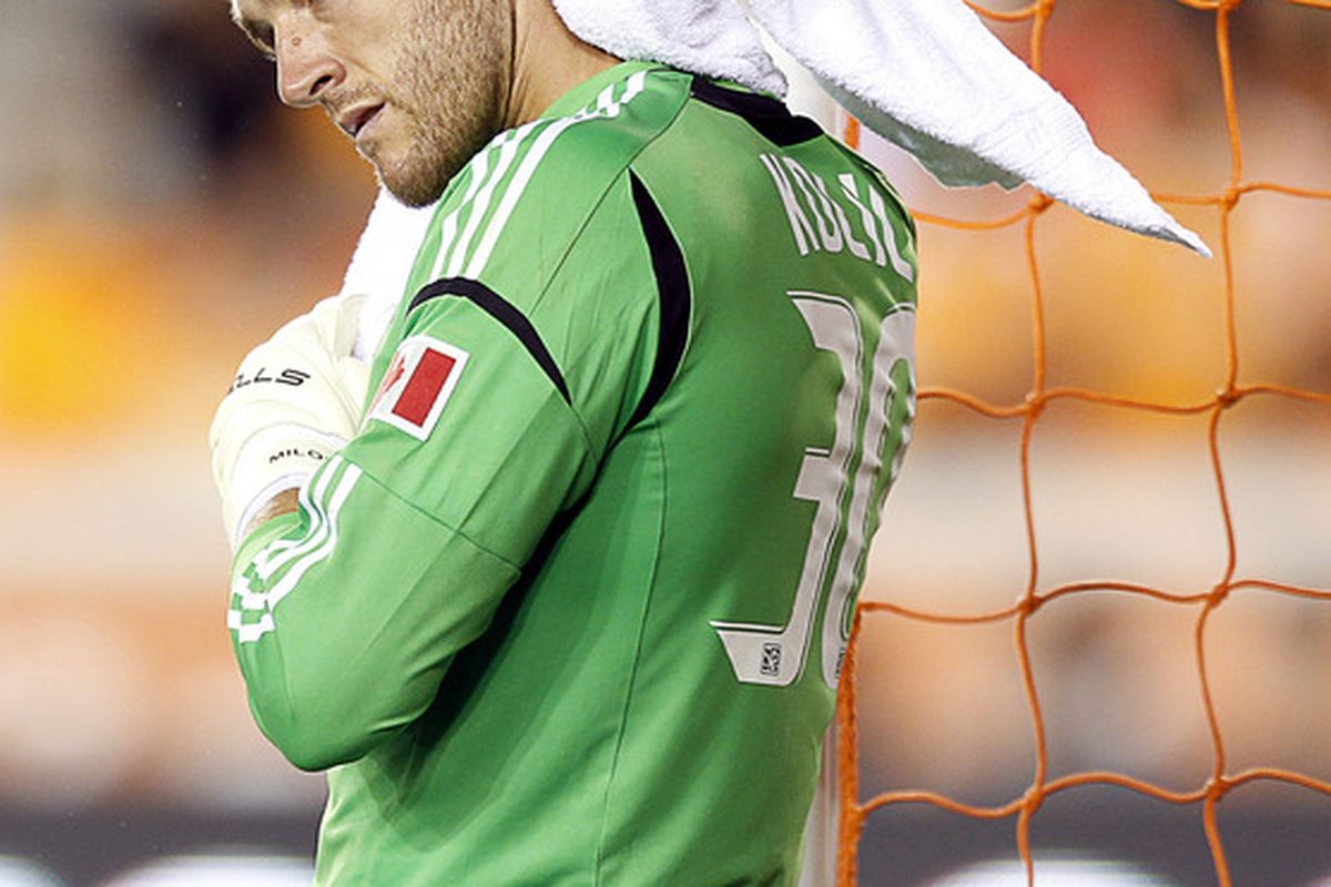 Kocic seems to be nicely developing his 'what the hell have I got myself into here' stare into the distance (TM Stefan Frei 2011)