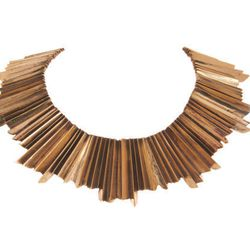 """<b>Aesa</b> Brass Large Victorious Collar, <a href=""""http://www.barneys.com/Aesa-Brass-Large-Victorious-Collar/00505018551945,default,pd.html#"""">$1,255</a> at Barneys"""