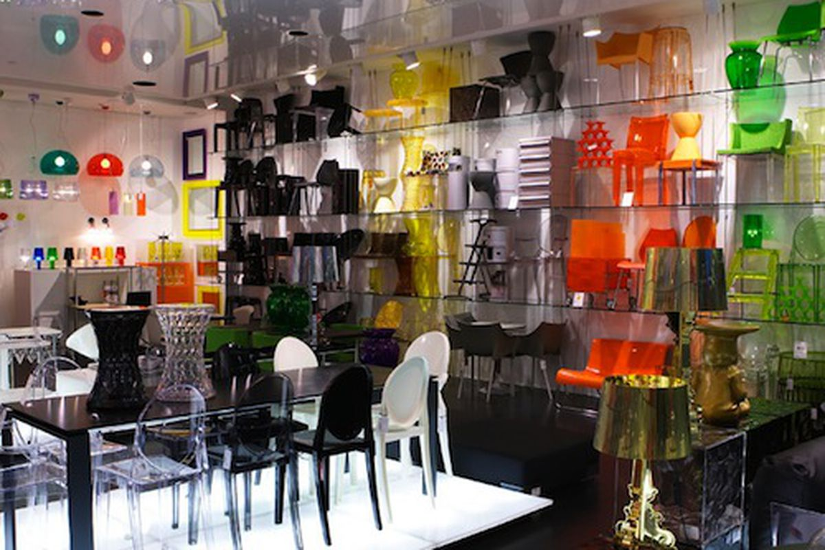 """We can't make any promises about what you'll find at DIVA, but hopefully it will be some of this delightful merchandise. Image of Kartell's flagship location in Australia via <a href=""""http://www.idea-awards.com.au/2008-round-4/kartell/"""">Idea-Awards<"""