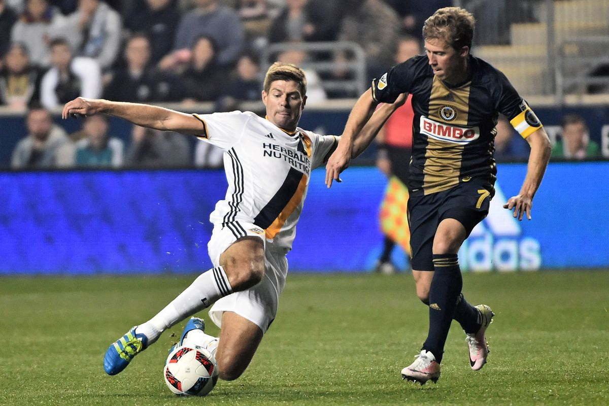 Steven Gerrard was one one of the few LA players that looked sharp against the Philadelphia Union.
