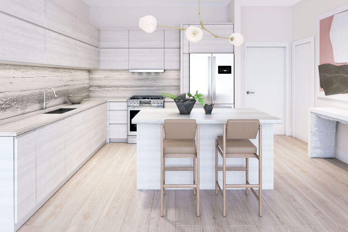 A rendering of a kitchen at Arbor Coconut Grove